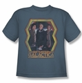 BSG Battlestar Galactica youth t-shirt Colonial Heroes Classic slate