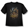 BSG Battlestar Galactica youth t-shirt Distressed Poster Classic black