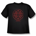 BSG Battlestar Galactica youth t-shirt Red Squadron Patch black
