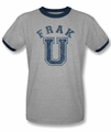 BSG ringer t-shirt Frak U adult heather navy