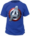 Captain America assemble adult tee royal t-shirt pre-order