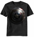 Captain America Beaten Shield t-shirt men black pre-order
