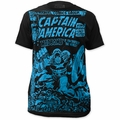 Captain America big print subway t-shirt madbomb mens black pre-order