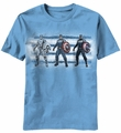 Captain America Cap Three Up t-shirt men carolina blue pre-order