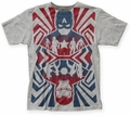 Captain America Civil War Opposing Forces big print subway tee heather grey mens pre-order