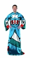 Captain America Comfy Throw Fleece Blanket With Sleeves pre-order