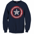 Captain America crew neck sweatshirt Shield Logo mens navy pre-order
