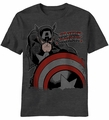 Captain America Deep Red t-shirt men Charcoal Heather pre-order