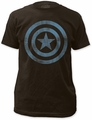 Captain America Distressed Icon 30/1 black t-shirt pre-order