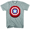 Captain America Pixel Shield Px Heather T-Shirt pre-order