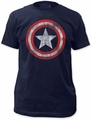 Captain America Shield Fitted Jersey t-shirt