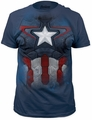 Captain America suit big print subway tee light navy t-shirt