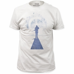 Captain America t-shirt Approaching Winter mens White