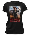 Captain America t-shirt Black Widow in The Winter Soldier juniors black pre-order