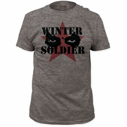 Captain America t-shirt Cold Stare mens Heather