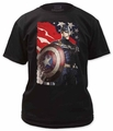 Captain America t-shirt Defending America mens black pre-order