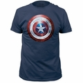 Captain America t-shirt Winter Shield mens Blue