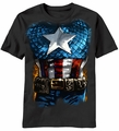 Captain America The American Way costume t-shirt men Black