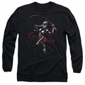 Catwoman adult long-sleeved shirt Kitten With A Whip black
