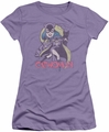 Catwoman juniors t-shirt Three Cats lavendar