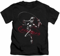 Catwoman kids t-shirt Kitten With A Whip black