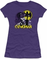 Catwoman Rooftop Cat juniors t-shirt