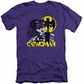 Catwoman slim-fit t-shirt Rooftop Cat mens purple