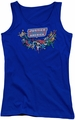 DC Comics juniors tank top Justice League Here They Come royal