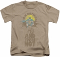 DC Comics kids t-shirt And You're Not sand