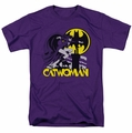 DC Comics Originals t-shirt Rooftop Cat mens purple