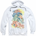 DC Comics pull-over hoodie Halftone League adult white
