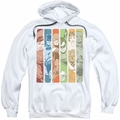 DC Comics pull-over hoodie Justice League Columns adult white