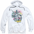 DC Comics pull-over hoodie Power Trio adult white