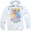 DC Comics pull-over hoodie Wonder Woman Supergirl Batgirl adult white