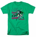 Catwoman t-shirt Catch Me mens kelly green