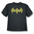 DC Comics youth teen t-shirt Batgirl Logo Distressed charcoal