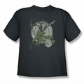 DC Comics youth teen t-shirt Green Arrow Right On Target charcoal