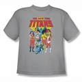 DC Comics youth teen t-shirt New Teen Titans silver
