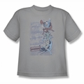 DC Comics youth teen t-shirt The Good Guys silver