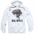 DC pull-over hoodie Deal With It adult White