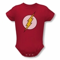 Dc snapsuit Flash Logo red