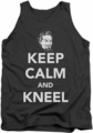 DC Universe tank top Superman Zod Keep Calm And Kneel mens charcoal