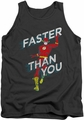 DC Universe tank top The Flash Faster Than You mens charcoal