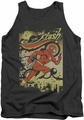 DC Universe tank top The Flash Just Passing Through mens charcoal
