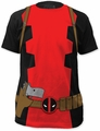 Deadpool t-shirt Costume Suit Soft Fitted 30/1 mens black
