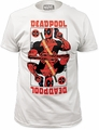 Deadpool Wild Card White mens fitted t-shirt