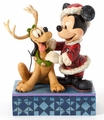 Disney Traditions Santa Mickey With Pluto Figurine pre-order