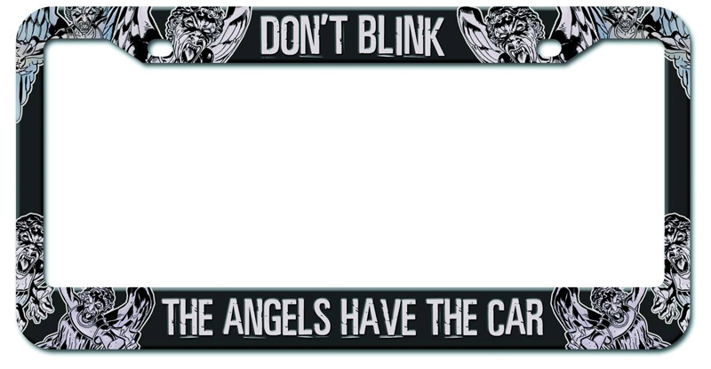 doctor who angels have the car license plate frame pre order