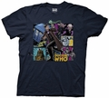 Doctor Who Cartoon Panels Collage mens t-shirt pre-order