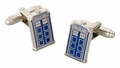 Doctor Who Chrome Tardis Cuff Links in Gift Box